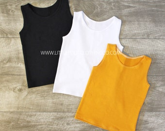 Kids tank top, kids shirts, baby tank top, solid color tanks, toddler tank top, tank top, solid tanks, hipster clothing, tween clothing