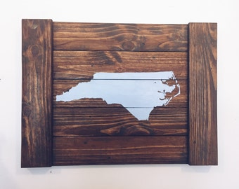 Reclaimed Wood With State of North Carolina