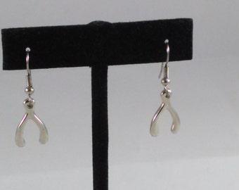 Lucky wishbone earrings