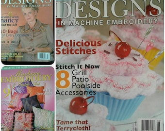 Machine Embroidery & Textile Magazines Your choice of 1 of 3 issues
