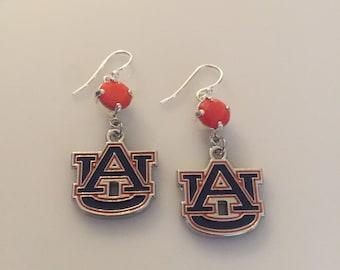 Auburn Tigers Earrings.Auburn Earrings