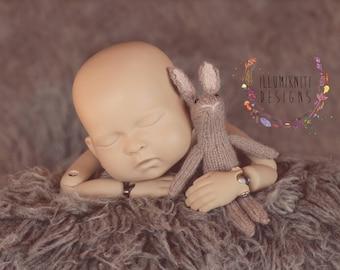 Little Bunny Stuffy - Newborn Photography Prop Bunny - Knit Bunny Stuffy  - Newborn Rabbit Prop - Baby Bunny Prop - Knit Animal Stuffed Toy