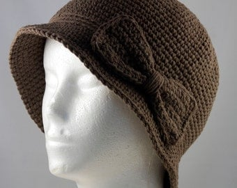 Cloche Hat in Brown for Cancer Patients