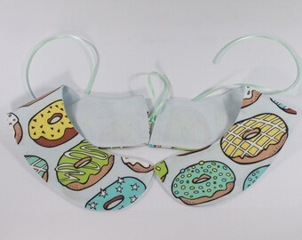doughnut peter pan collar - detachable peter pan collar - removable quirky accessory - sprinkles fun