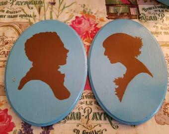 Silhouette Couple Hand painted