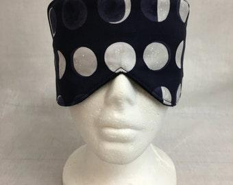 Moon Phases Cotton Sleep Mask and Case Set, Eye Mask, Travel Mask
