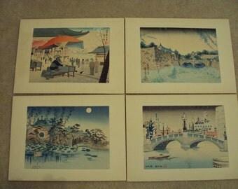 Vintage Woodblock Set of Four Seasons of Tokyo (undated)