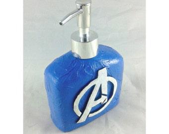 Avengers Logo Dispenser, mixed media soap pump