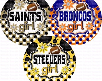 Football Polka Dots (3 Sheets) Bottle Cap Images 4x6 Bottlecap Collage Scrapbooking Jewelry Hairbow Center