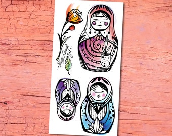 Temporary Tattoos - Russian doll