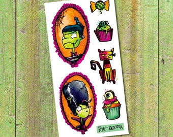 Temporary Tattoos - Halloween - by Rue tabaga