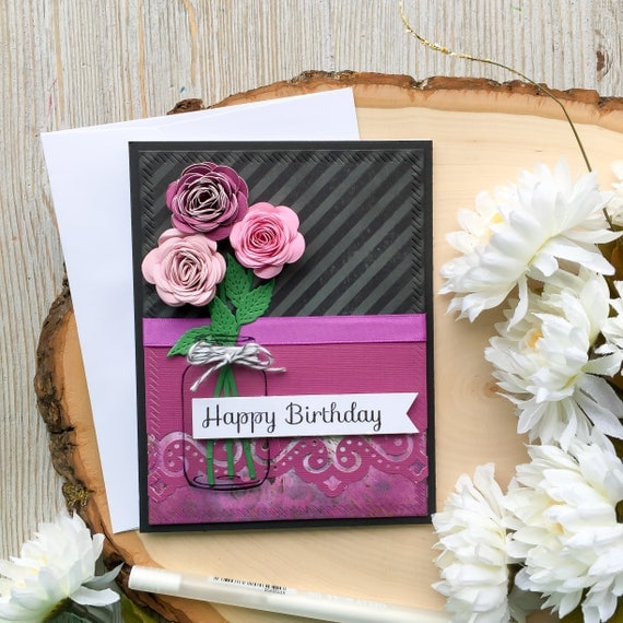 Handmade Birthday Card Mother Happy Birthday Birthday Card – Happy Birthday Card 3d