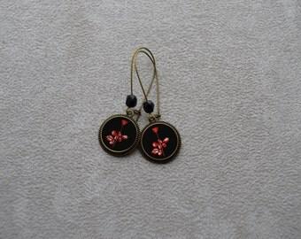 """loops of ear """"DM"""" Violator, bronze, Crystal"""
