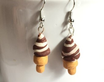 Soft Serve Twist Ice Cream Earrings