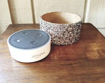 Amazon Echo Dot Case, Alexa Disguise, Rhinestone Case for Amazon Echo Dot, Echo Dot Stand, Dot Cover, Bling Case