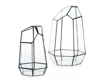 Geometric Glass Terrarium, Air plant container, Air Plant Terrarium, Succulent Planter, Hex Planter, Wedding Decor, Wedding Centerpiece