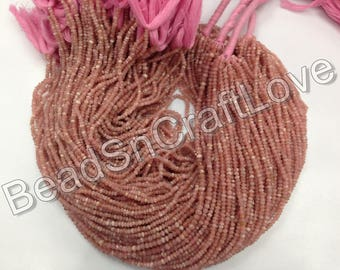 Rhodochrosite  micro faceted rondelles, 3-4mm, more than 160 pieces        AAA quality