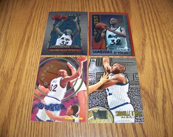 4 Shaquille O'neal (Orlando Magic) Basketball Cards