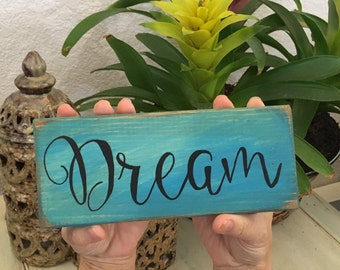 dream mini sign, boho mini sign, boho decor, boho mini sign, boho wall art, hippie decor, dorm decor, gift for her, gift for grad