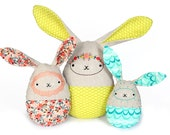 Easter Egg Bunnies PDF Sewing Embroidery Pattern