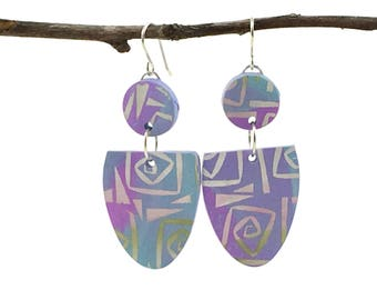 Handmade Jewelry, Polymer Clay Earrings, One of a Kind jewelry, Gift