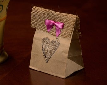 Unique Kraft Bag KONA Coffee Wedding Favors. Choose Stamp design.  Fresh roasted coffee. Made to Order.