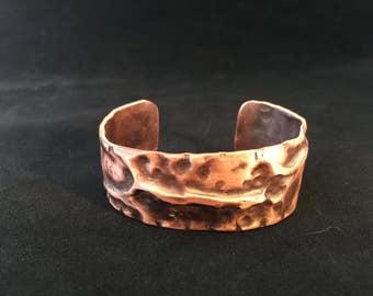 Copper Boho Cuff Bracelet - Bohemian Jewelry Statement Bracelet - FREE SHIPPING