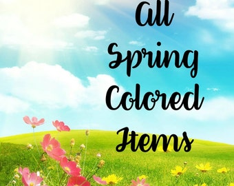 All Spring Colored Sheets for Erin Condren Life Planner Vertical Layout