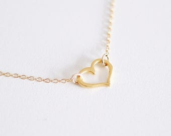 With Love - Gold Heart Necklace