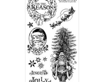 Graphic 45 ST NICHOLAS 1 Cling Stamps IC0371S cc55