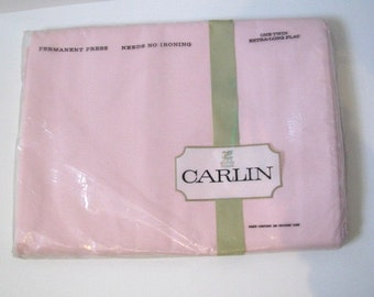 Vintage Carlin, Twin Extra Long Sheet, Unopened Original Packaging, Made in U.S.A.