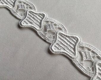 White venise lace trim
