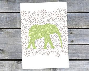 Postcard {the Green elephant}