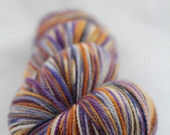 Hand-dyed yarn - superwash merino - lace - speckles - TIGREE
