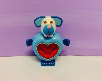 Sweet Secrets Toy, Sweet Secrets Dog, Pretty Puppy, Sweet Secret Animals, Transforming Jewelry, Heart Shaped,Galoob Toys, Vintage 1980s Toys
