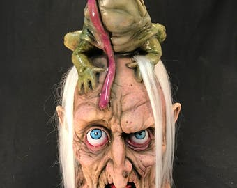 Warts witch latex bust