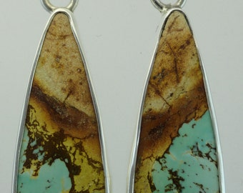 "Royston Ribbon ""Boulder"" Turquoise Earrings"