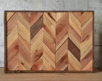 Reclaimed Wood Chevron Art, Lath Art, Wood Art, Wall Art, Wood Wall Art, Herringbone Art, Chevron Art, Wood Chevron Art, Colorful Wood Art