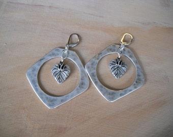 Leverback Earrings/ Lightweight Earrings/ Silver Dangle Earrings