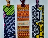 Fabric bookmarks Sets, Teachers Gift Idea, African print bookmarks, book lover gift, keepsake gift, Ethnic bookmarks, Detola And Geek