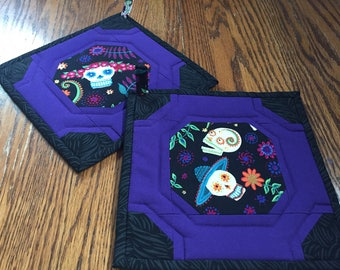 Pair of Day of the Dead Potholders