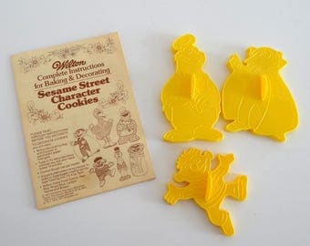 Muppets Cookie Cutter 1977 Vintage Sesame Street Wilton Set of 3