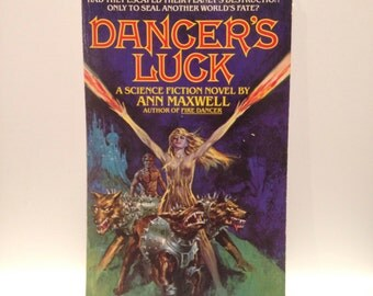 Recycled 70s Scifi Blank Spiral Notebook Dancer's Luck