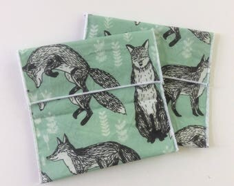 Fox print Reusable Eco Sandwich/Snack Bag