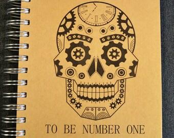 Sugar Skull Journal, Sugar Skull Sketchbook, Art Journal, Steampunk Journal, Steampunk Sketchbook, Handmade Journal, Handmade Sketchbook