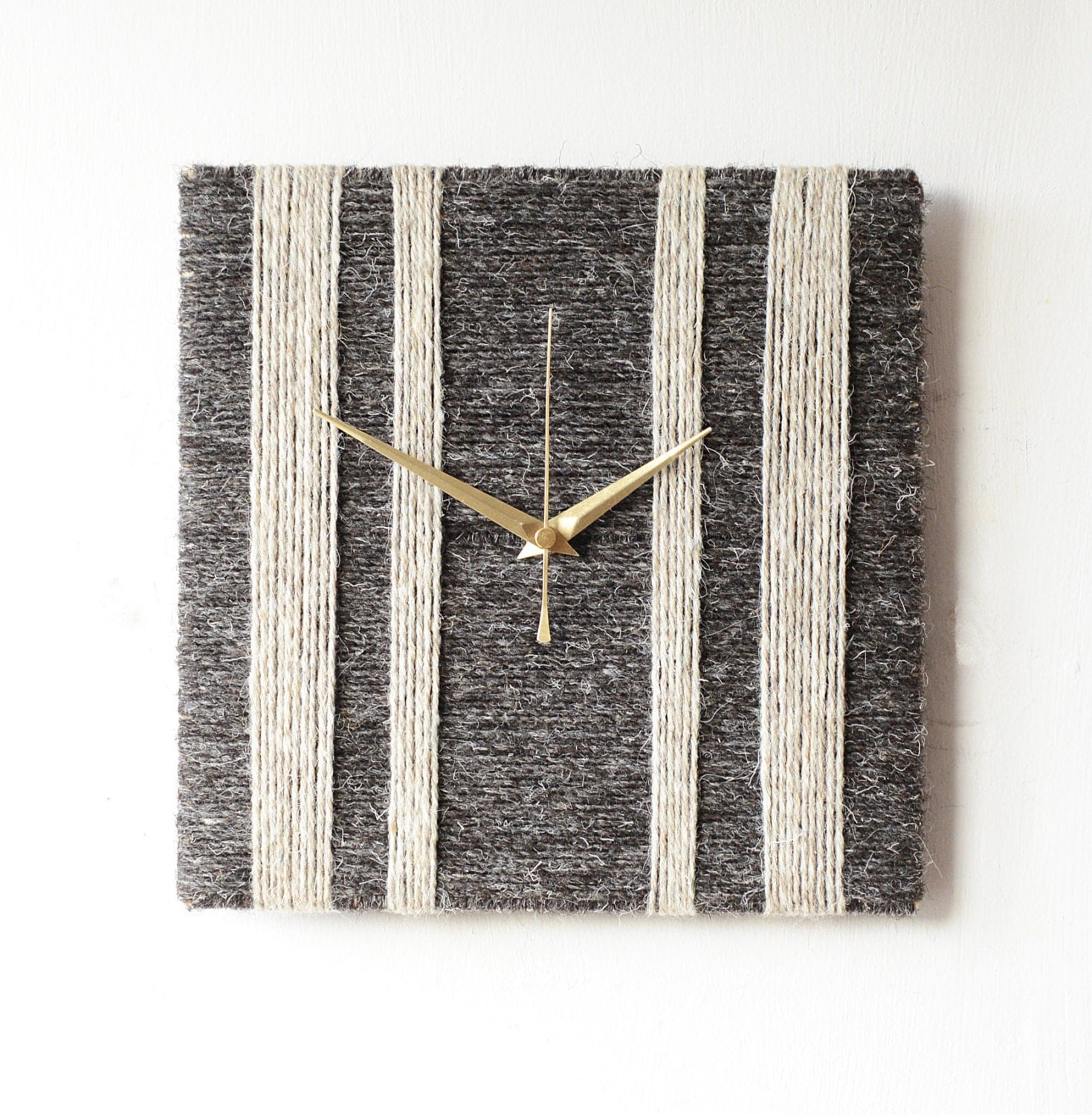 Charcoal Grey Wall Lights : Herdwick Wool Wall Clock Charcoal Grey & Light Grey 100%