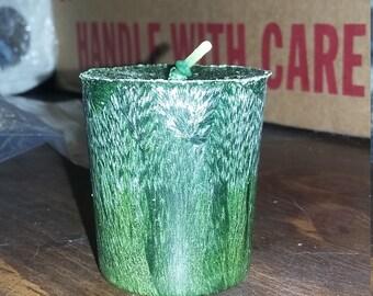 Palm wax aromatherapy votive candle