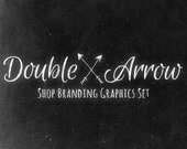 Chalk Arrows Shop Branding Banners, Avatar Icons, Business Card, Logo Label + More - 13 Premade Graphics Files - DOUBLE ARROW