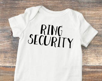 Ring Security Onesie, Ring Bearer Bodysuit, Baby Boy Wedding Outfit, Infant Ring Bearer, Custom, Ring Bearer Gift, Wedding Party Present
