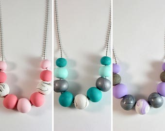 HARPER Clay Necklace - Pastels
